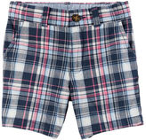 Carter's Plaid Flat-Front Twill Shorts