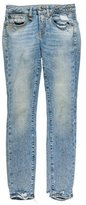R 13 Distressed Mid-Rise Jeans
