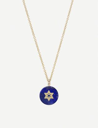 THE ALKEMISTRY Noush 14ct gold, lapis lazuli and diamond Star of David necklace