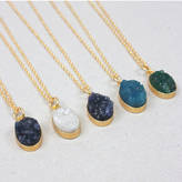 Bohemia Oval Druzy Necklace