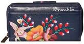 Anuschka Organizer Clutch Wallet 1120 (Moonlit Meadow) Handbags