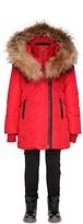 Mackage Leelee Winter Down Coat With Fur Hood In Red (8-14 Yrs)