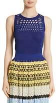 Missoni Women's Cutout Knit Cotton Tank