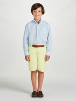 Oscar de la Renta Plaid Cotton Long Sleeve Dress Shirt