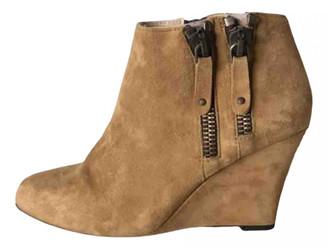 Bel Air Camel Suede Boots