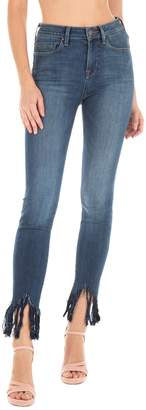 Fidelity Gwen High Rise Fringe Hem Skinny Jeans