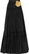 Lanvin Embellished poplin maxi skirt