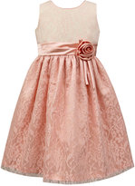 Jayne Copeland Two-Tone Glitter Lace Party Dress, Toddler and Little Girls (2T-6X)