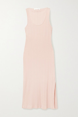 Skin Rozlyn Ribbed Pima Cotton-jersey Nightdress - Blush