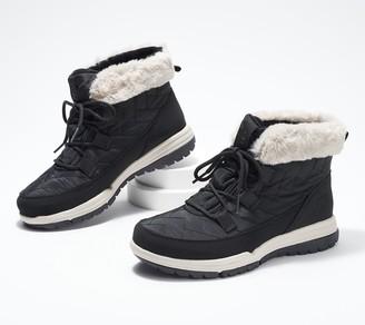 Ryka Waterproof Faux Fur Winter Boots - Aubonne Lace