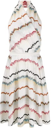 Missoni Intarsia Knit V-Neck Dress