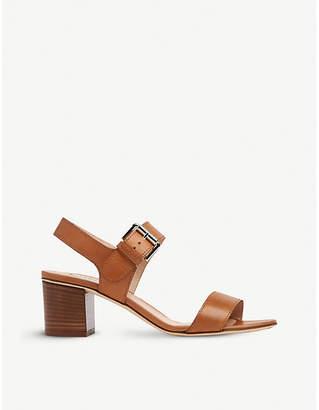 LK Bennett Pelham block heel leather sandals
