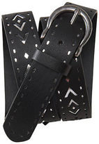 Aeropostale Womens Metallic Underlay Perf Belt Black