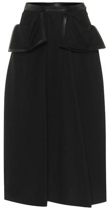 Loewe Cotton-blend denim midi skirt