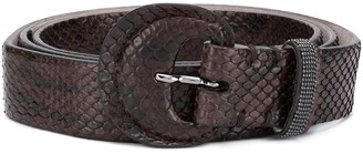 Brunello Cucinelli Woven Buckle Belt