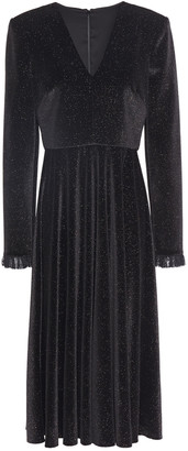 Philosophy di Lorenzo Serafini Glittered Velvet Midi Dress