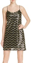 Vero Moda Sequined Chevron Shift Dress