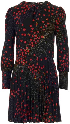 RED Valentino Floral And Polka-Dot Print Mini Dress