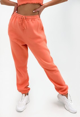 Missguided Petite Peach 90S Oversized Joggers