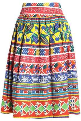 Stella Jean Gathered Printed Cotton-blend Tweed Skirt