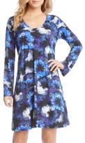 Karen Kane Women's Taylor Midnight Floral Print A-Line Dress