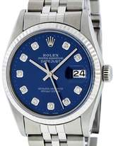Rolex Datejust 16030 Stainless Steel with Diamond Automatic 36mm Mens Watch