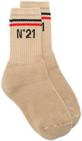 No.21 branded ankle socks - women - Cotton - S