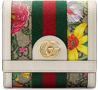 Gucci Ophidia Small GG Flora Card Case Wallet