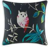 Kate Spade Trellis Blooms Owl Square Throw Pillow