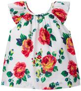 Joe Fresh Floral Print Peasant Top (Baby Girls)