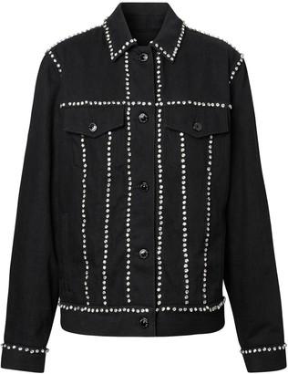 Burberry Crystal Embellished Denim Jacket
