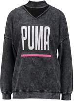 Puma CHOKER CREW Sweatshirt heavy wash black