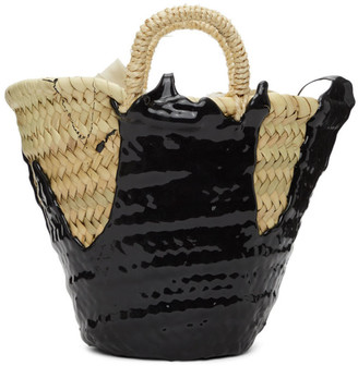 Ottolinger Beige and Black Mini Rubber-Dipped Basket Tote