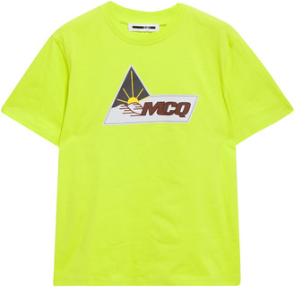 McQ Neon Printed Cotton-jersey T-shirt