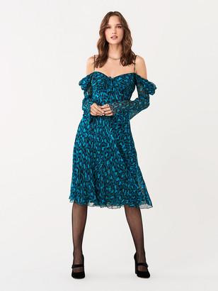 Diane von Furstenberg Lilith Crinkle Chiffon Dress
