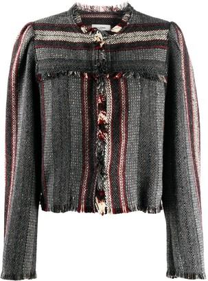 Etoile Isabel Marant Fringed Woven Stripe Jacket