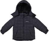 London Fog Black Windowpane Puffer Coat - Infant & Boys
