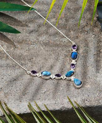 Ys Gems YS Gems Women's Necklaces Blue - Labradorite & Amethyst Statement Necklace