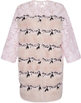 Giambattista Valli Mink Coat with Lace