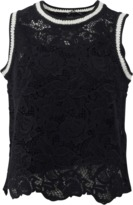 Ermanno Scervino Lace Top With Knit Trim