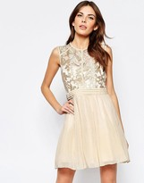 Little Mistress Skater Dress with Baroque Lace Top