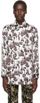 MM6 MAISON MARGIELA White Floral Print Shirt