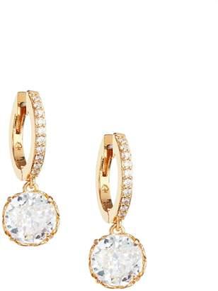 Kate Spade That Sparkle Goldtone Crystal Huggie Earrings