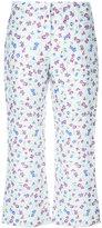 Altuzarra floral print cropped trousers - women - Silk/Polyamide/Polyester/Acetate - 34