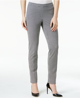 Alfani Houndstooth Pull-On Skinny Pants, Only at Macy's