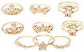Charlotte Russe Embellished Stackable Cocktail Rings - 9 Pack