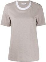 Peserico contrast collar T-shirt