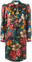 Gucci floral ruffled dress - women - Silk/Cotton/Viscose - 42