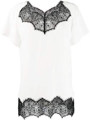 Escada Sport scalloped lace T-shirt