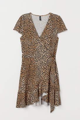 H&M Flounced wrap dress